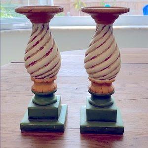 SLAH pair of carousel candlesticks